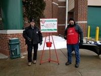 Wardens Tom Sturdivant and Chris Shea rings the bells for Salvation Army.