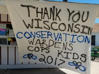 This sign welcomed DNR wardens.