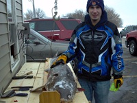 Chase Owens of Chilton got his first sturgeon on Saturday.