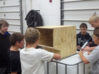 Fall Creek students worked in teams to design the boxes.