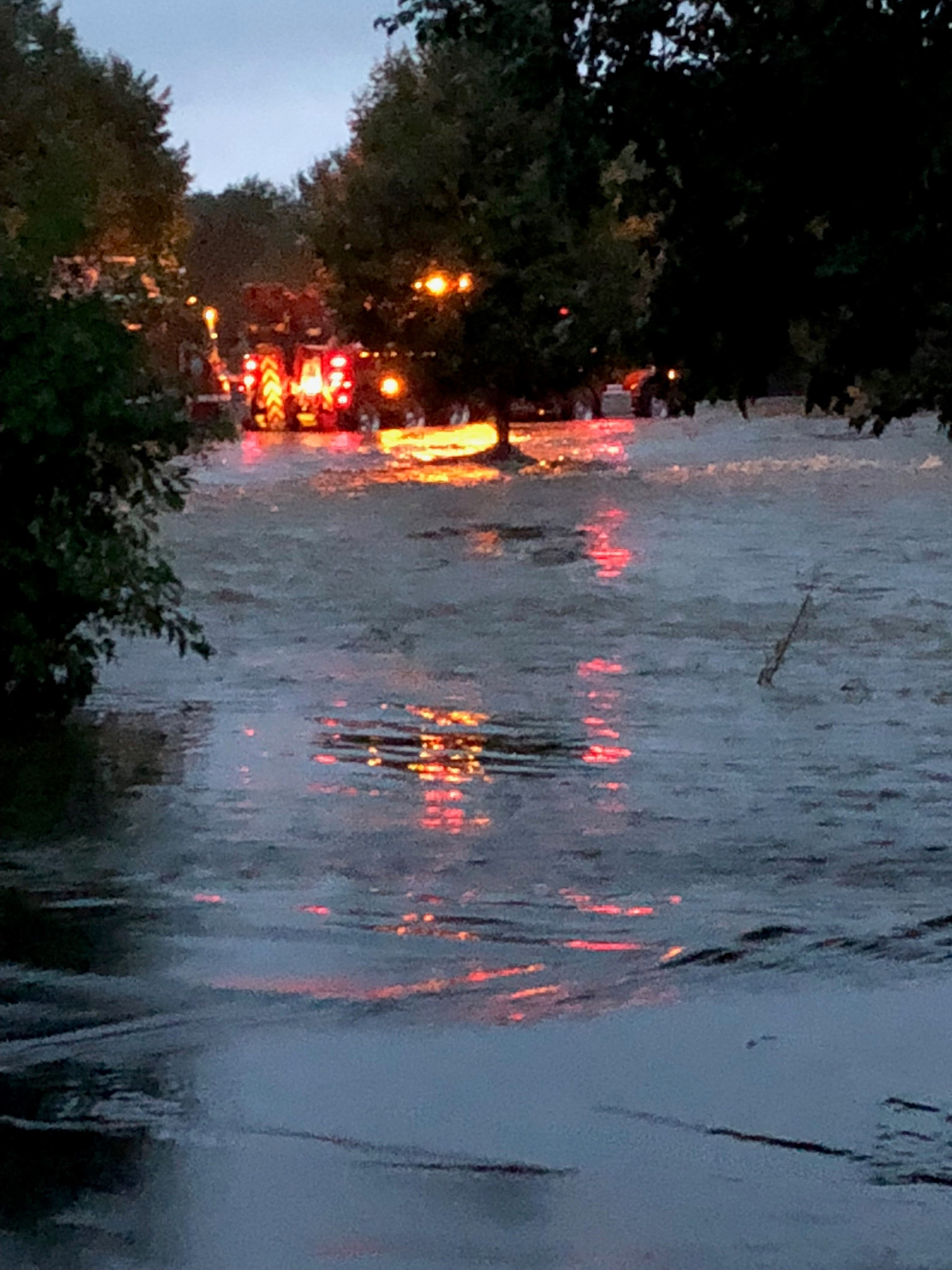 WDNR wardens were among numerous emergency response agencies at flooded and washed out roads that caught drivers by surprise in Madison and other western Dane County communities overnight August 20 as a record-setting rainfall pummeled the area.