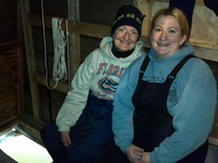 Mother-daughter Schneider team of Chilton - both lifelong spearfishers.