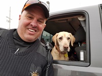 Warden Mike Nice of Richland Center and his popular K9 Lulu.