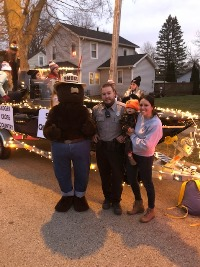 Warden Mike and Smokey Bear.