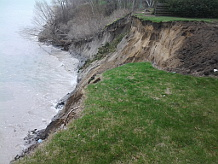 erosion on bluff face