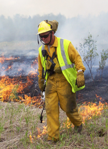 Land manager burning